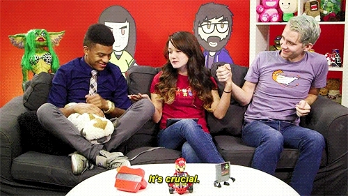 gifs, legends of korra, reina, reina scully, sam, sam bashor, shocking revelations on legends of korra, sourcefednerd, tv show show, will, william haynes, SourceFed Gifs GIFs