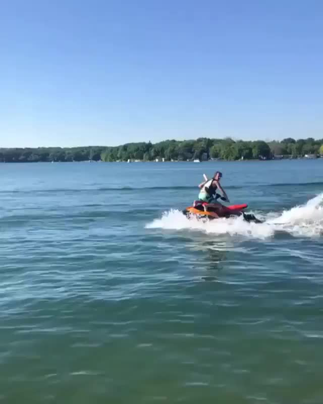 Watch If I ride this jet ski facing backwards GIF by tothetenthpower (@tothetenthpower) on Gfycat. Discover more related GIFs on Gfycat