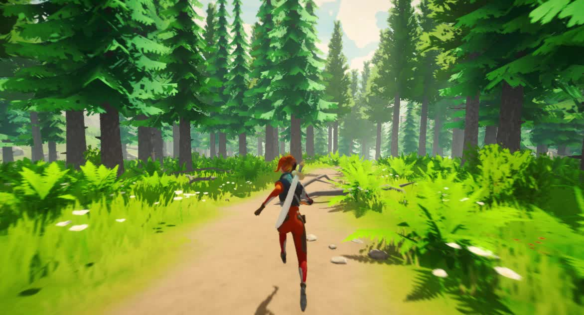 unity3d, fae forest demo GIFs