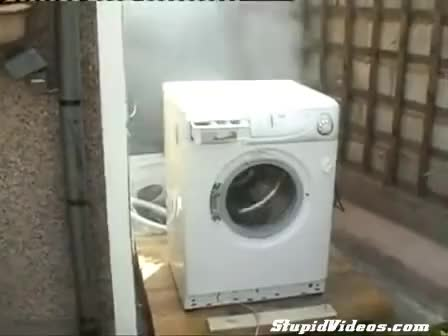 Watch and share Washing Machine Destroyed By Brick GIFs on Gfycat