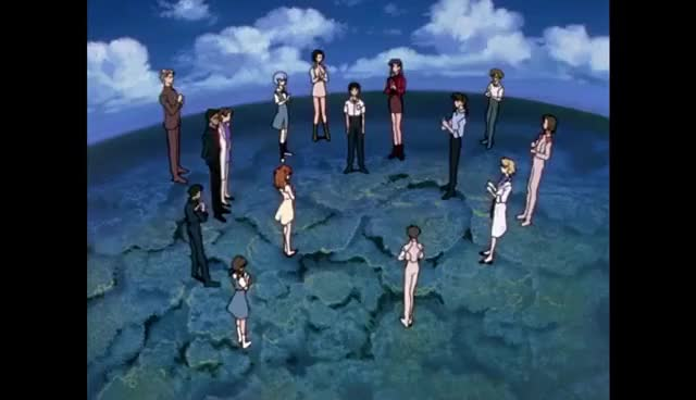 "Watch Neon Genesis Evangelion - Final Scene ""Omedeto"" [TV Show] HD GIF on Gfycat. Discover more related GIFs on Gfycat"
