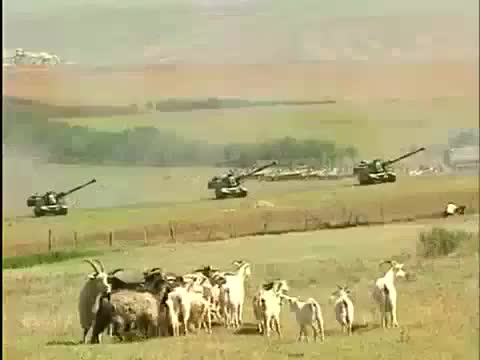 Watch and share Russian Artillery During 1st Chechen War Plus PTSD Goats GIFs on Gfycat