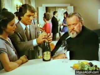 Watch and share Original Takes For Orson Welles Wine Commercial GIFs on Gfycat