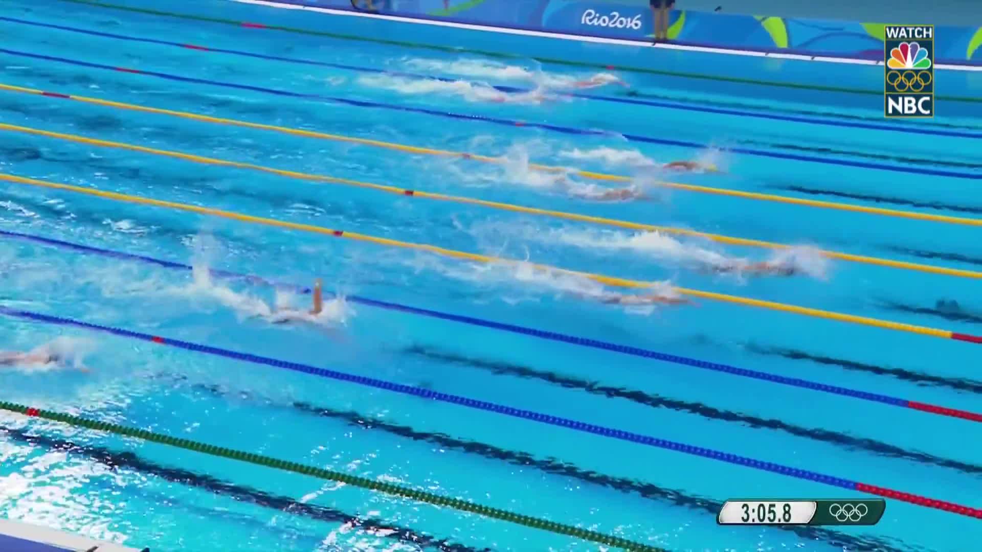 nbc sports, olymgifs, olympics, U.S. wins 4x100 freestyle relay gold behind Phelps, Adrian GIFs