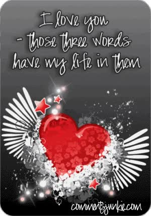 Watch and share Love You Three Words animated stickers on Gfycat