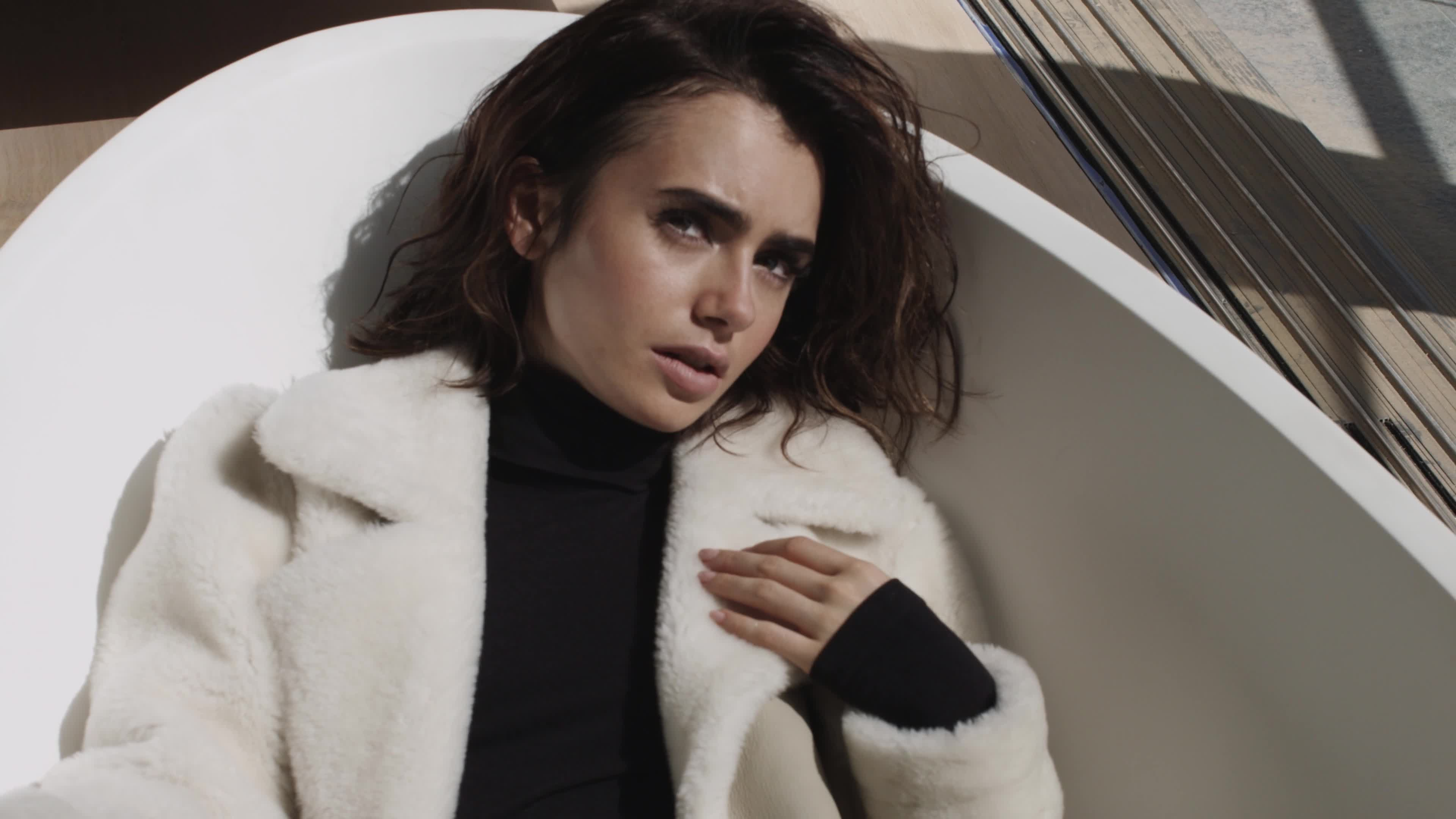 celebs, lily collins, tyler kindred, Lily Collins | Malibu Magazine GIFs