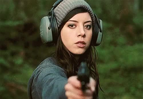 Watch and share Aubrey Plaza GIFs and Shooting GIFs on Gfycat