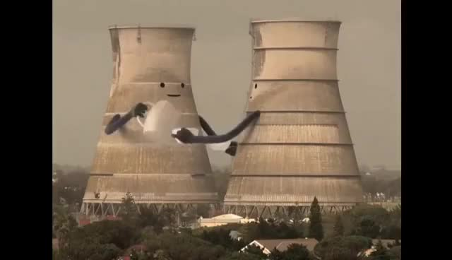Watch and share Collapsing Cooling Towers GIFs on Gfycat