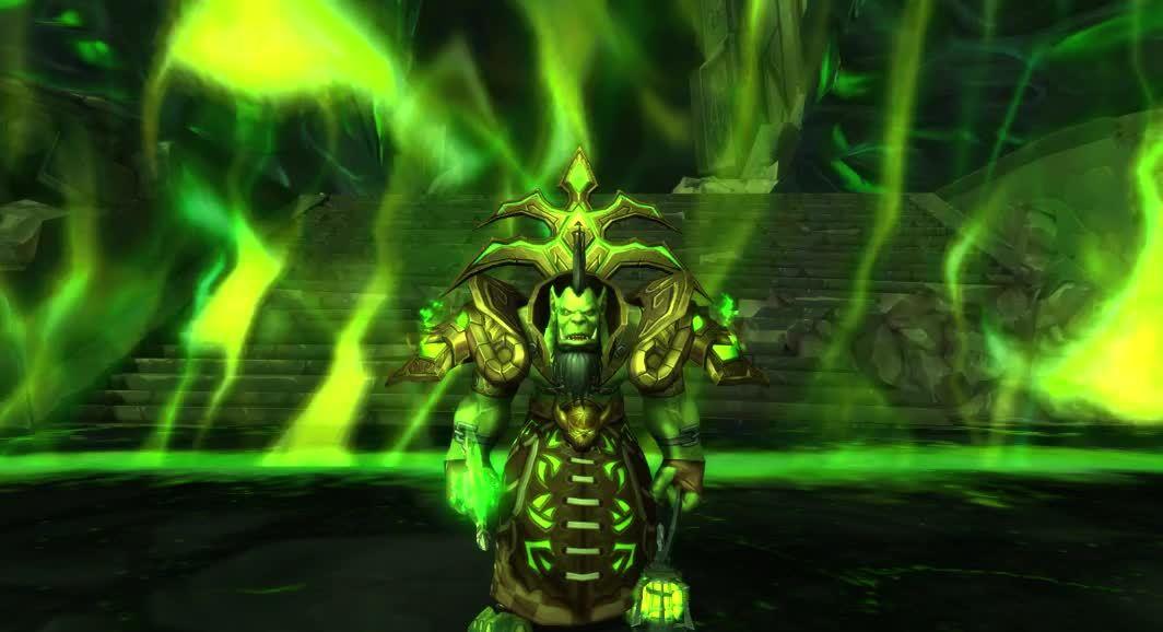 transmog, transmogrification, warlock, Eredar Man'ari Warlock Transmog GIFs