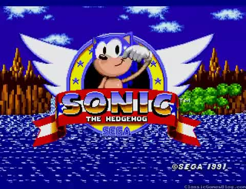 Watch and share Sonic The Hedgehog Opening Title Screen Intro Sega Genesis GIFs on Gfycat
