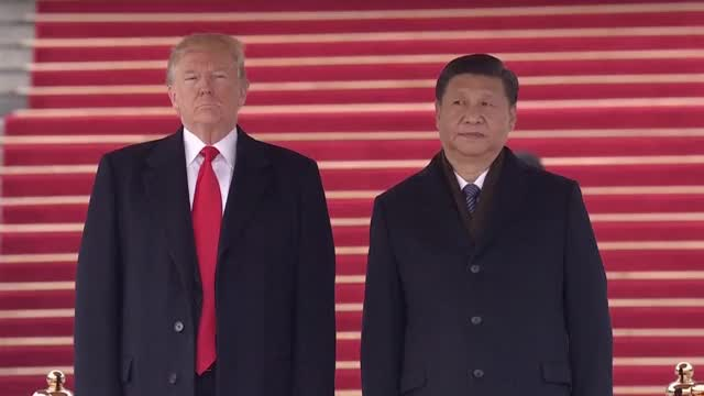 Watch President Trump & Melania Welcomed to China with INCREDIBLE Ceremony in Beijing 11/8/17 GIF on Gfycat. Discover more donald trump, first lady, melania, melania trump, president trump, trump, trump asia trip, trump in asia, trump in china, trump welcome ceremony GIFs on Gfycat