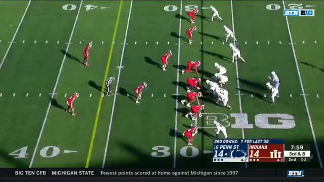 Watch FFFF PSU 05 JJ dangerous when he catches it GIF by Seth Fisher (@mgoseth) on Gfycat. Discover more football GIFs on Gfycat