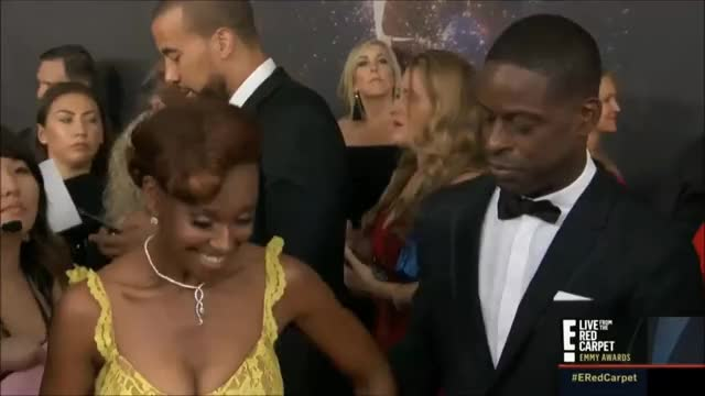 Watch Sterling K. Brown and Ryan Michelle Bathe. GIF by @tsubaki on Gfycat. Discover more EmmyAwards2017, Emmys, Emmys2017 GIFs on Gfycat