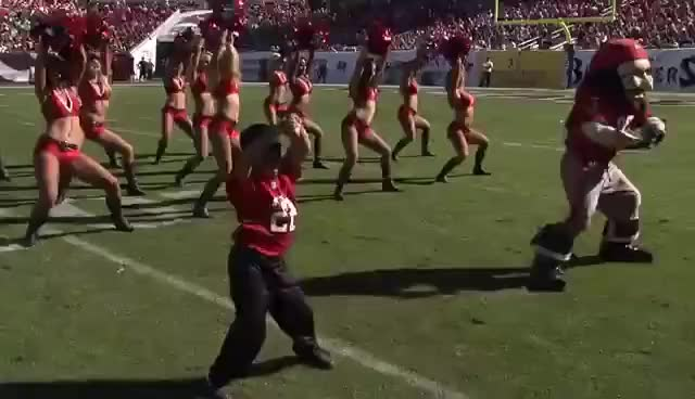 Watch Tampa Cheerleader GIF on Gfycat. Discover more NFL, TampaBay, cute, dance, dougie, kid GIFs on Gfycat