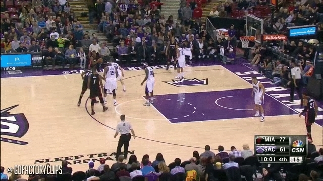 nbagifs, Bosh scores through traffic (reddit) GIFs