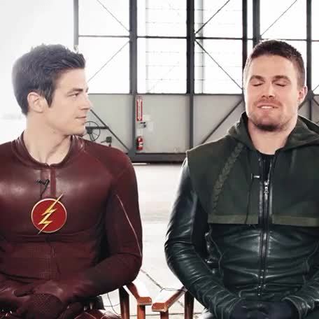 Watch and share Stephen Amell GIFs and Grant Gustin GIFs on Gfycat