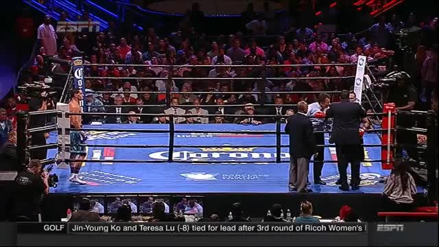 [Image/GIF] I did a GIF of this beautiful stoppage from saturday boxing. You have to see this even if you have an aversion towards boxing, because this stoppage is truly an example of a outstanding referring. The amount of care this ref has is genuinely out of this world. (reddit)