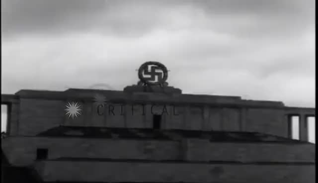 Watch German Swastika emblem is demolished at Zeppelinfeld in Nurnberg,Germany. HD Stock Footage GIF on Gfycat. Discover more related GIFs on Gfycat