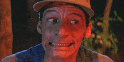 Ernest P. Worrell, awkward, eek, jim varney, oops, uh oh, yikes, Ernest Yikes GIFs