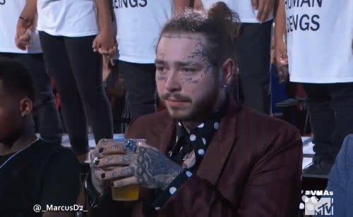 celebs, post malone, Post Malone at MTV Video Music Awards VMA's GIFs