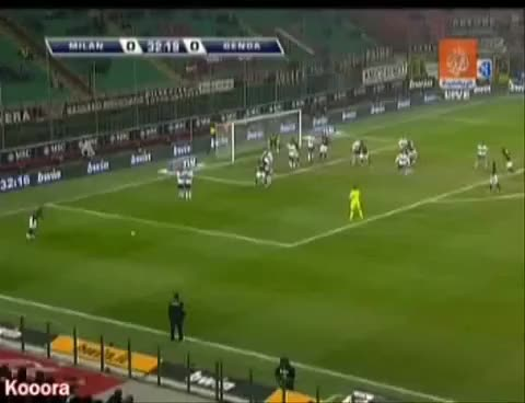Watch and share Beckham Goal - AC Milan Vs Genoa - High Quality GIFs on Gfycat