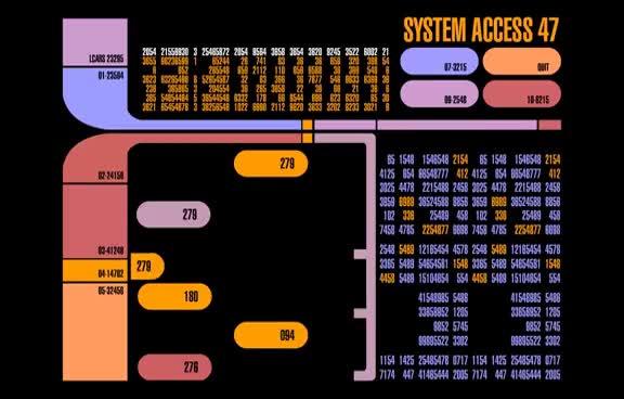 Star Trek LCARS System Acces 47