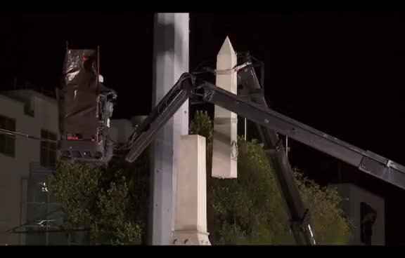 Watch Confederate monument removal begins in New Orleans GIF on Gfycat. Discover more related GIFs on Gfycat