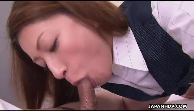 Office pussy, did she swallow?
