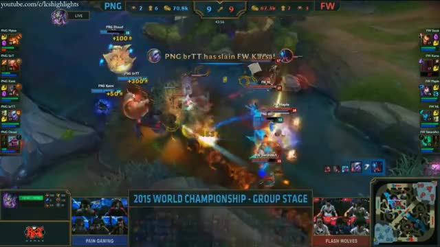 PNG vs FW Highlights - PAIN GAMING vs FLASH WOLVES - S5 WORLDS 2015 GROUP STAGE
