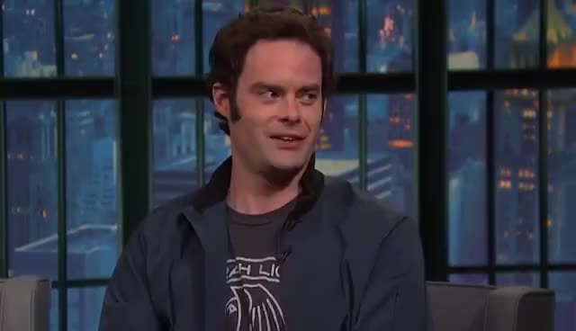 Watch and share Late Night With Seth Meyers GIFs and Bill Hader GIFs on Gfycat