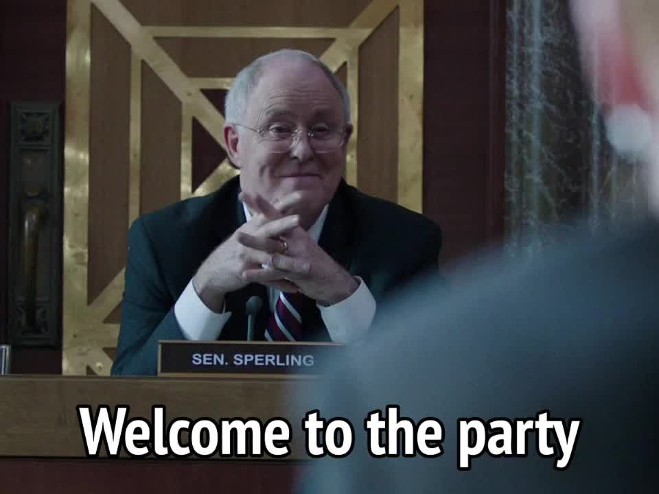 john lithgow, miss sloane, party, welcome, Miss Sloane - Welcome to the party GIFs