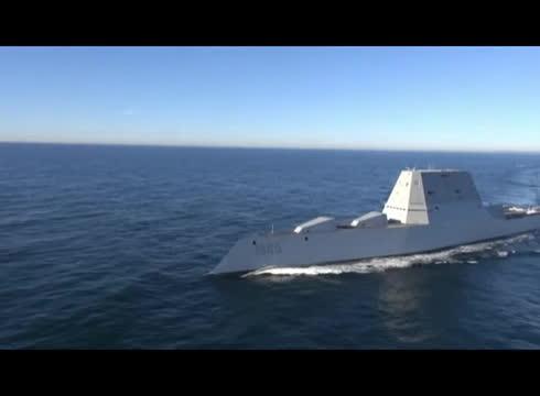 navy, united states navy, warshipgfys, Future USS Zumwalt (DDG 1000) Underway GIFs