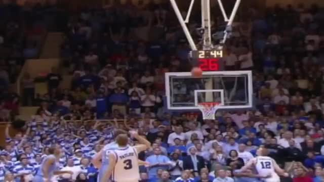 Watch and share Carolina Basketball: Danny Green Dunks On Paulus At Duke 2008 GIFs by kseegars on Gfycat