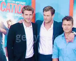 Watch Liam Hemsworth GIF on Gfycat. Discover more Liam Hemsworth, Luke Hemsworth, Vacation Premiere, chris hemsworth, liamhedit GIFs on Gfycat