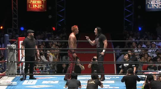 LARIATOOOO!!, LARIATOOOO!! - GEDO TURNS ON OKADA!!! #NJPW #njdest GIFs