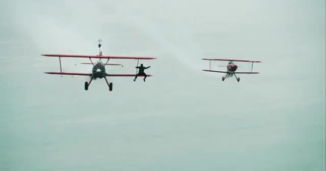 Watch and share Wing Walker Jumps From Airplane - Wing Walking Stunts In 4K! GIFs on Gfycat