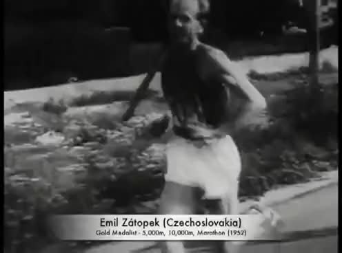 Watch and share Emil Zátopek - 1952 Olympics GIFs on Gfycat