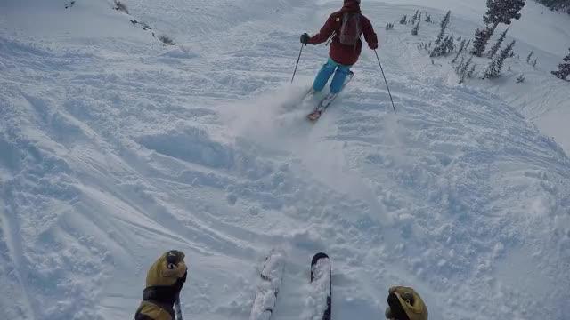 Watch Snowbird w/Mike - Jan 14, 2017 GIF by Garret (@powdahound) on Gfycat. Discover more jump, powder, skiing, snowbird GIFs on Gfycat