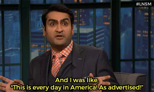 Watch Late Night With Seth Meyers GIF on Gfycat. Discover more America, Kumail Nanjiani, Late Night with Seth Meyers, Seth Meyers, comedy, funny, macy's thanksgiving day parade GIFs on Gfycat