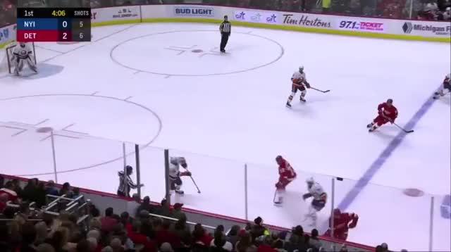 Watch Brady Trettenero on Twitter Anders Lee gets demolished by Niklas GIF on Gfycat. Discover more Detroit Red Wings, hockey GIFs on Gfycat