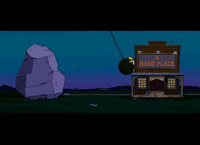 Watch homer simpson rock and hard place GIF on Gfycat. Discover more related GIFs on Gfycat