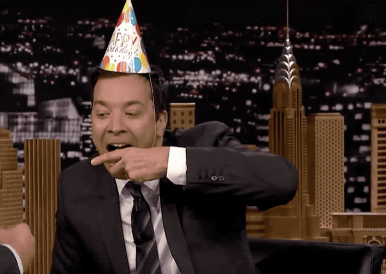bday, best, birthday, cake, celebrate, eat, epic, fallon, funny, haha, happy, happy birthday, hat, hilarious, jimmy, lol, show, smile, tonight, wishes, Happy birthday GIFs