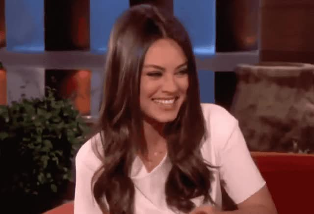 Watch and share Mila Kunis GIFs by Reactions on Gfycat