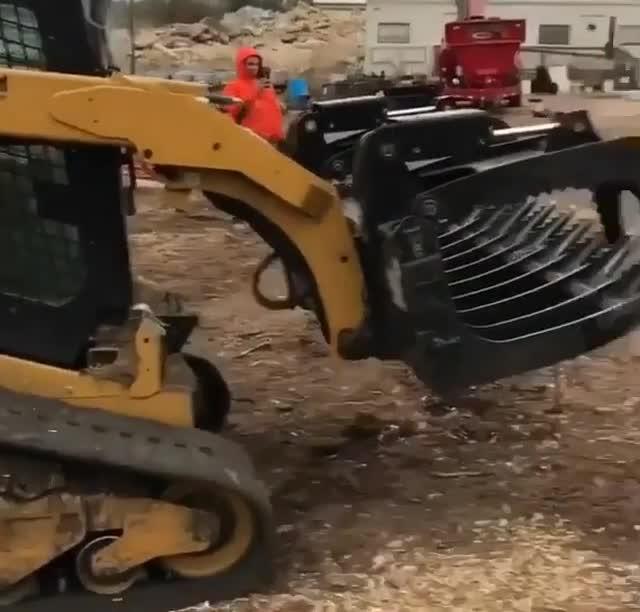 dumping leaves GIFs