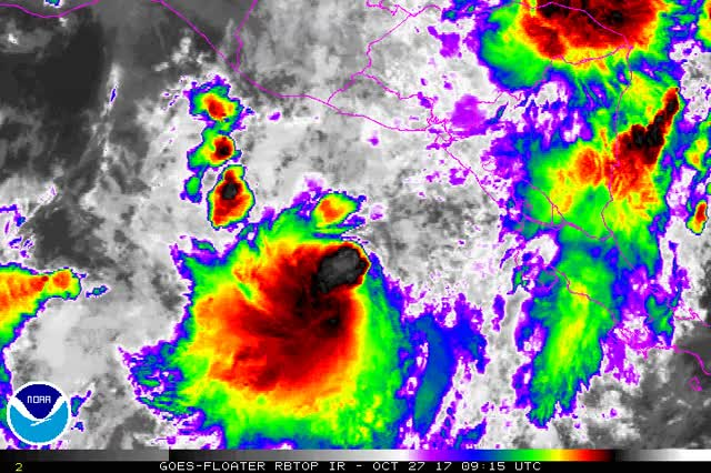 Watch and share Tropical Storm Selma On October 27, 2017 GIFs by The Watchers on Gfycat