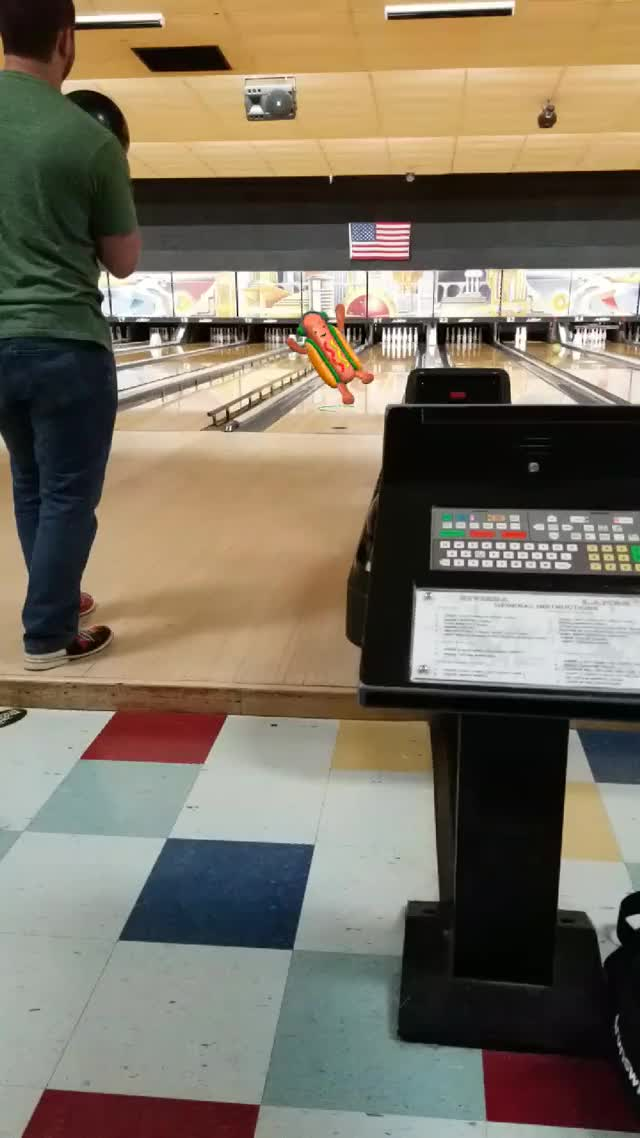 Watch and share Bowling GIFs and Hotdog GIFs by spritzo on Gfycat