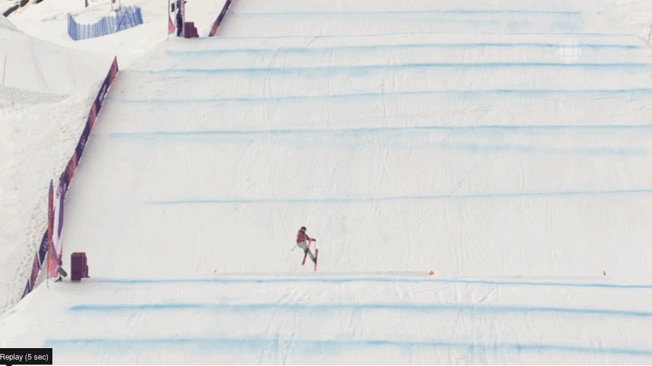 olympics, Canadian Dara Howell's gold medal-winning final jump with the bow and arrow grab (reddit) GIFs