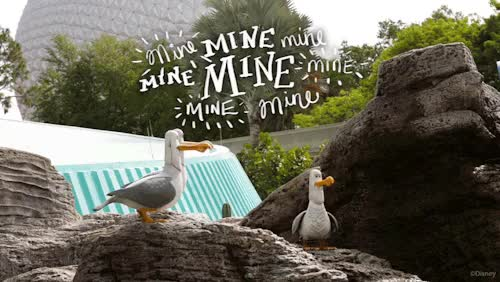 Watch Mine, Mine, Mine! GIF on Gfycat. Discover more disney, disney parks, disney pixar, disney world, epcot, finding nemo, gif, gifs, nemo, pixar, travel, walt disney world, wdw GIFs on Gfycat