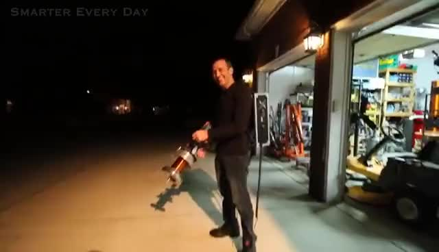 Watch and share Handheld TESLA COIL GUN At 28,000fps - Smarter Every Day 162 GIFs on Gfycat