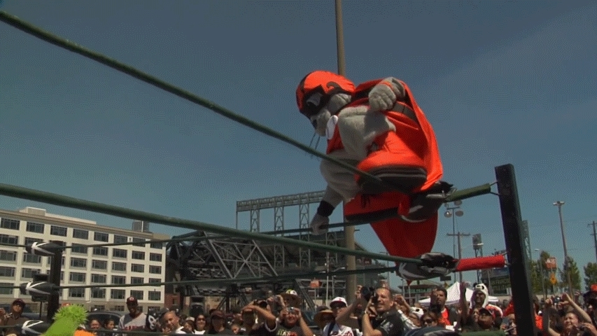 sfgiants, Lou Seal with the pin GIFs